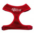 Dog Harness DIVA Red Mesh SIZE XLARGE