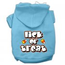 Dog Hoodie LICK OR TREAT Sizes XS - 3XL