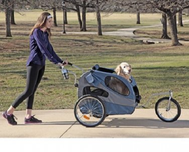 Large Pet Stroller HOUND ABOUT Push Handle - up to 110 lbs