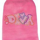 Pet Sweater DIVA Pink with Color Rhinestones SIZE SMALL