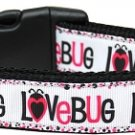 Dog Collar LOVE BUG SIZE MEDIUM Soft Nylon