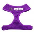 Dog Harness LIL MONSTER Mesh Purple SIZE LARGE