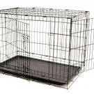 "LARGE PET KENNEL 2-DOOR 36x23x26"" PORTABLE CAGE"