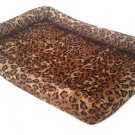 "Kennel Bed Soft Cushion for Pets Leopard Print 20""  x 15"""