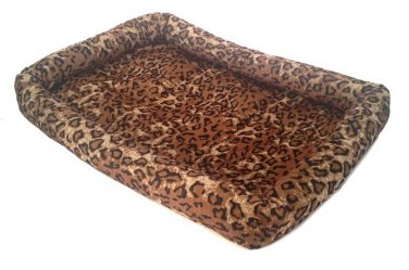 """Kennel Bed Soft Cushion for Pets Leopard Print 20""""  x 15"""""""