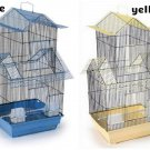 "LARGE PORTABLE BIRD CAGE ORIENT 32"" H x 16"" W x 14"" D BLUE YELLOW"