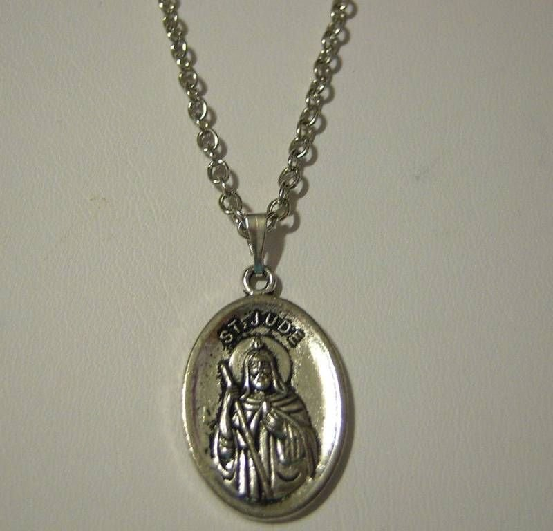 st jude medal necklace your choice of length 16 24