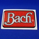 Bach case decal logo -  self adhesive foil type emblem red and chrome case part