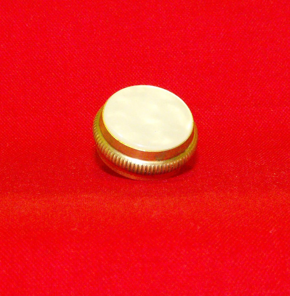 Universal USA made King Trumpet Cornet Brass Finger Button with Pearl