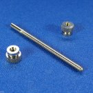 Genuine Blessing Trumpet 3rd Slide Stop Screw Rod with 2 nuts - Nickel Plated