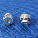 2 Genuine Blessing Trumpet 3rd Slide Stop Screw Rod Nuts - Silver Plated