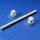 Genuine Blessing Trumpet 3rd Slide Stop Screw Rod with 2 nuts - Silver Plated