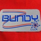 Genuine Bundy USA case decal logo -  self adhesive foil type emblem
