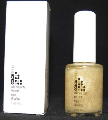 Avon Nail Polish GOLD SPRITZER Shimmer COLOR ME PRETTY Top Coat