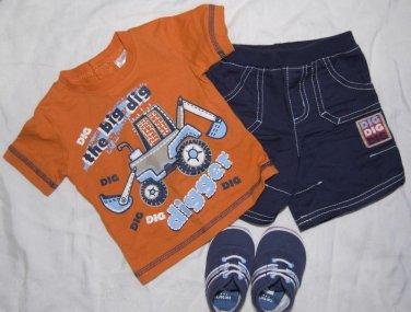 Boy Shirt Shorts Shoes CARTERS BABY BIZ Newborn 0-3 months Outfit Spring Summer