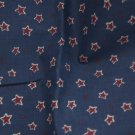 VTG Cotton Fabric Blue Stars Wine Red Patriotic Bisque Dolls Hitty Bleuette NOS