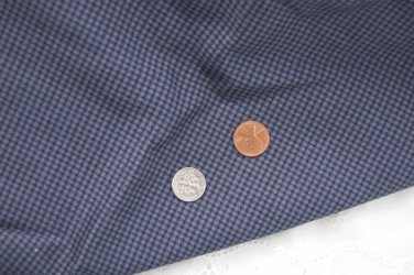 VTG COTTON Fabric Tiny Blue Check Miniatures Bisque Hitty Doll Unused