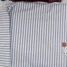 Vintage Cotton Fabric White Blue French Ticking Stripe Shabby Chic Dolls Quilt