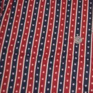 VTG Cotton Fabric Red Blue White Stars Striped PATRIOTIC July 4th Dolls Bisque
