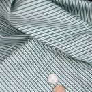 Vtg TIicking Cotton Fabric GREEN WHITE  Bleuette French German China Doll