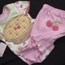 Baby Girl BODYSUIT PANTS BIB 0-3 Months Everyday Fall Playset Outfit Multi-Color