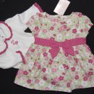 Gymboree NWT Dress Bodysuit BLOSSOM KITTY Girls 0-3 Months 100% Cotton