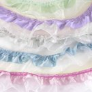 LAVENDER RUFFLED Trim 5 YDS Sparkle Organza Satin Purple Bridal Ribbon