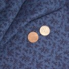Vtg Blue White FLORAL Cotton PRINT Fabric Bisque FRENCH FASHION China Doll