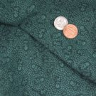 Vtg Fabric GREEN Cotton TINY FLORAL PRINT Crafts Quilting FLOWERS Doll Dress