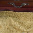 Vtg Cotton Fabric GOLD TAN PRINT Antique Bisque Bleuette China Hitty Doll NOS