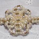 Vintage 70's Hair Clip Barrette Piece FAUX PEARL Cluster Gold Tone Beads EUC
