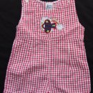 VTG Boys Romper Size 6-9 months Shortall  Red White Blue July 4th Airplane VG