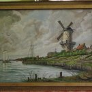 "Antique painting oil on canvas beautiful original ""Monogrammed ""FR"" 20-30es"