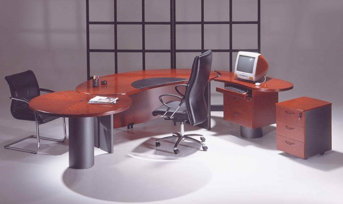 ONE NEW CHERRYWOOD EXECUTIVE OFFICE DESK SET- UTMOST SELECTION