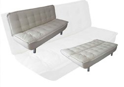 ONE NEW CONTEMPORARY CARESOFT FUTON SOFA BED, ITEM#3665W, BEIGE