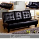 ONE NEW CONTEMPORARY CARESOFT FUTON SOFA BED, ITEM#CM2665-PU
