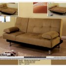 ONE NEW CONTEMPORARY MICROFIBER FUTON SOFA BED, ITEM#CM2005