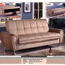 ONE NEW CONTEMPORARY MICROFIBER FUTON SOFA BED WITH STORAGE, ITEM#CM2629