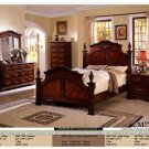 NEW 5pc Queen All Wood Traditional Bedroom Set #CM7721