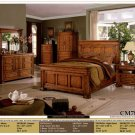NEW 5pc Queen All Wood Traditional Bedroom Set #CM7812