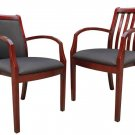 Two New Cherrywood Guest office Chair, SIDE CHAIR#219