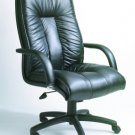 One New Executive Hi-Back Leather Office Chair, #9875