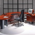 Contemporary Cherry Wood Executive Office. Desk - UTM1