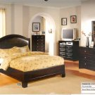 NEW 5pc Queen All Wood Traditional Bedroom Set #CM7058