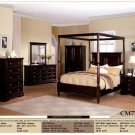 NEW 5pc Contemporary Canopy Bedroom Set - ITEM#CM7720