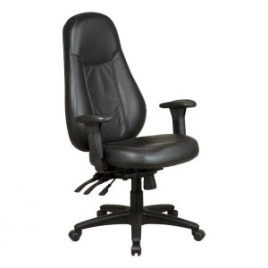 1 ERGONOMIC HI-BACK LEATHER EXECUTIVE OFFICE CHAIR 4985