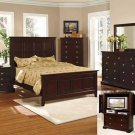 NEW 5pc Queen All Wood Contemporary Bedroom Set C-B6700