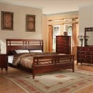 NEW 5pc Queen All Wood Contemporary Bedroom Set C-B7000