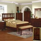 NEW 5pc Queen All Wood Contemporary Bedroom Set C-B4800