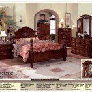 NEW 5pc Queen All Wood Traditional Bedroom Set #CM7570